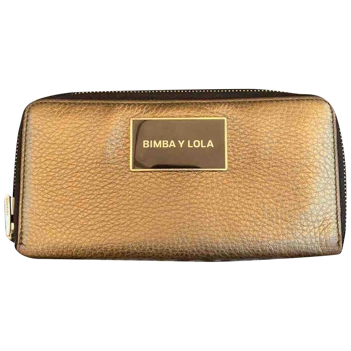 Bimba Y Lola - Portefeuille   pour femme en cuir - dore