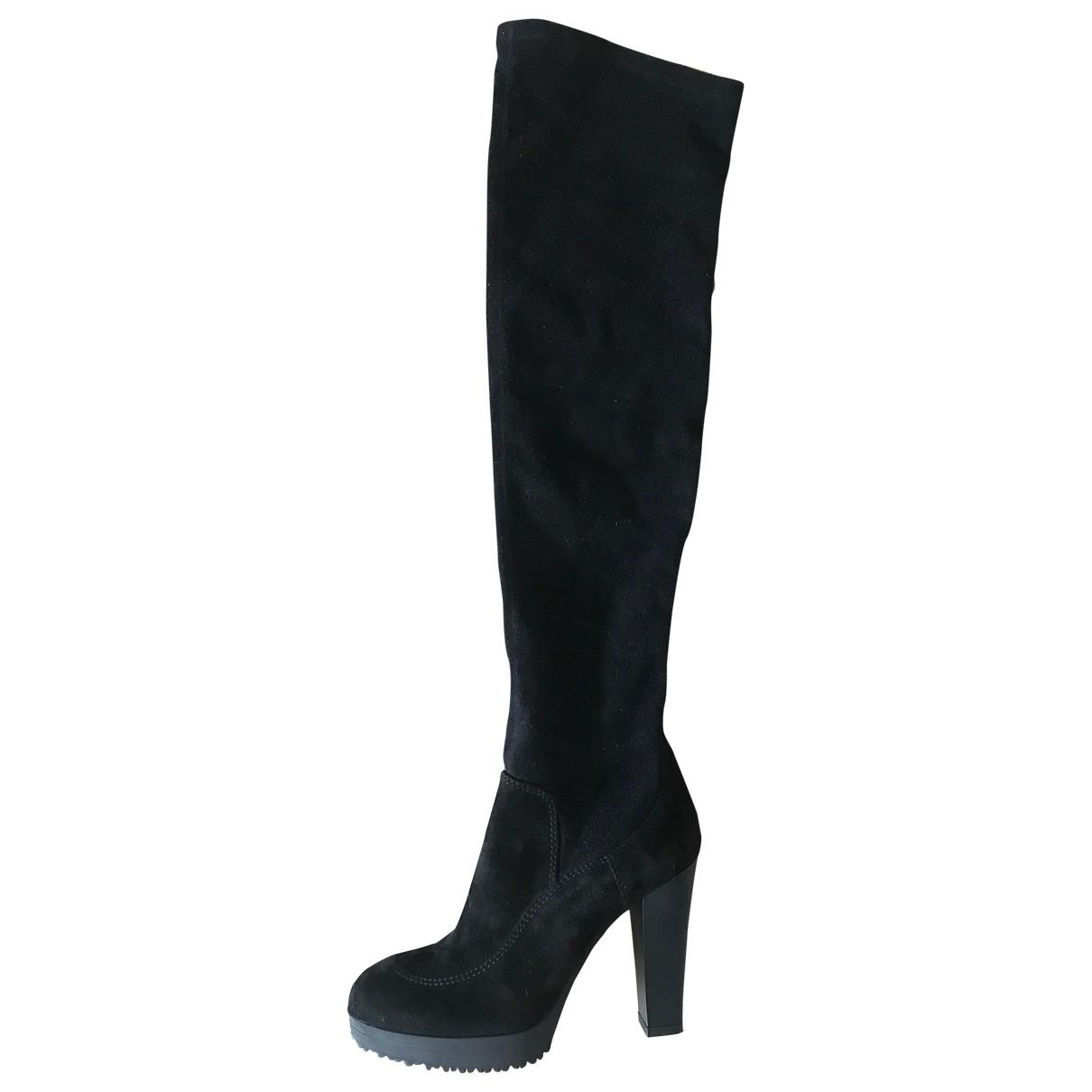 Hogan \N Black Suede Boots for Women 36.5 EU