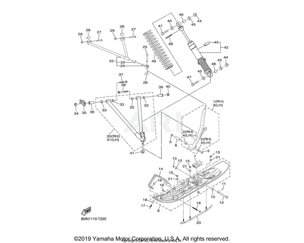 Yamaha OEM 8KU-F3351-00-00 SPRING
