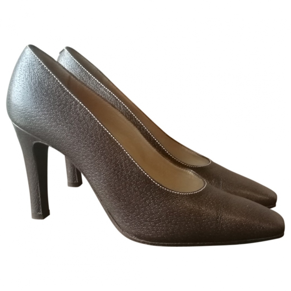 Valentino Garavani - Escarpins   pour femme en cuir - marron