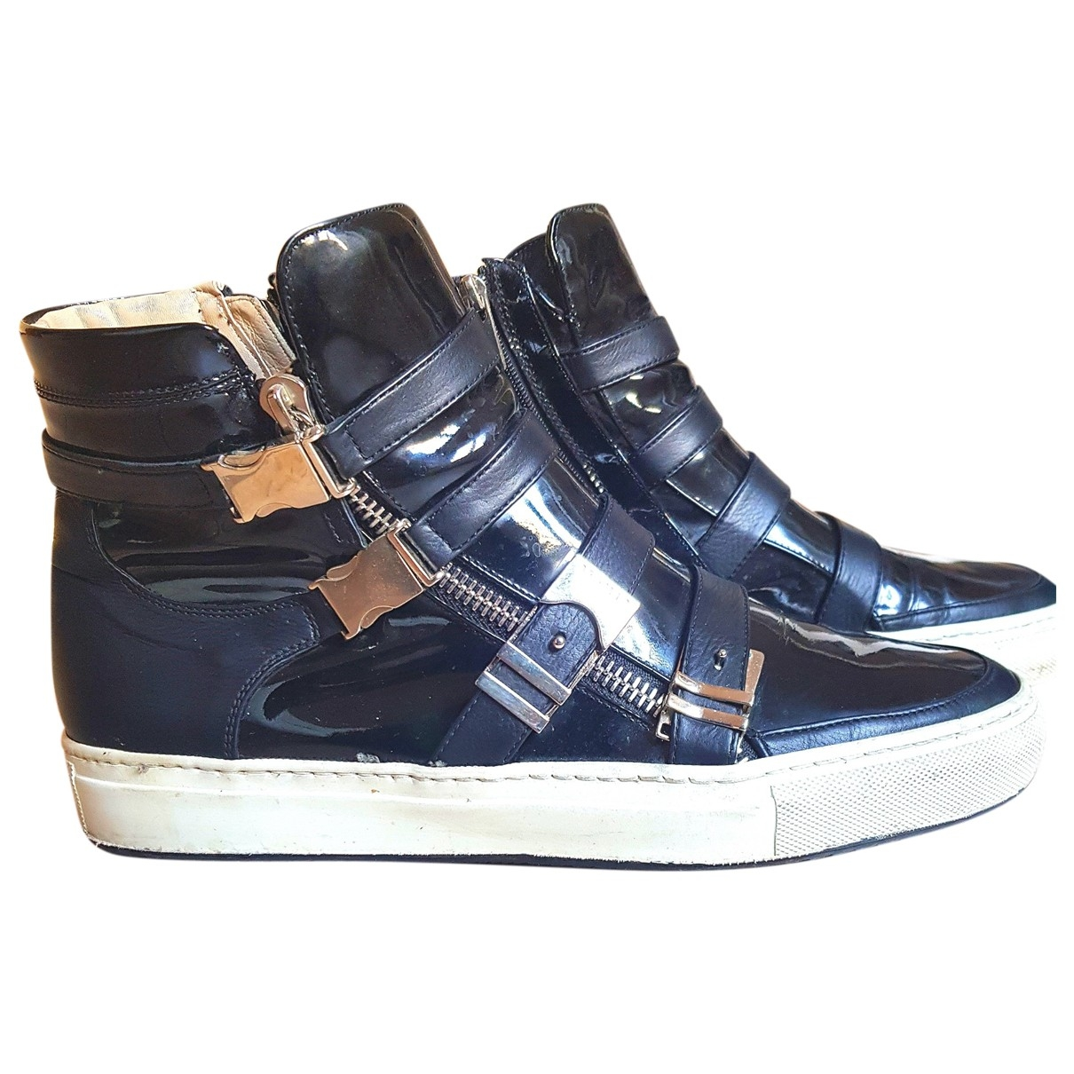Le Silla \N Sneakers in  Schwarz Leder