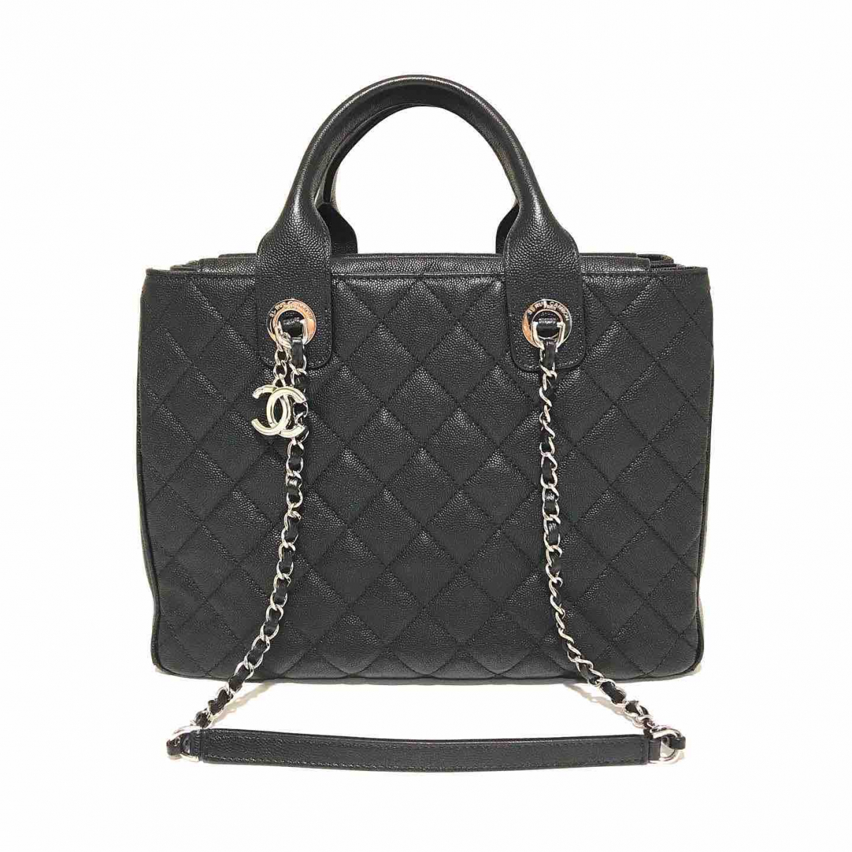 Chanel Petite Shopping Tote Black Leather handbag for Women \N