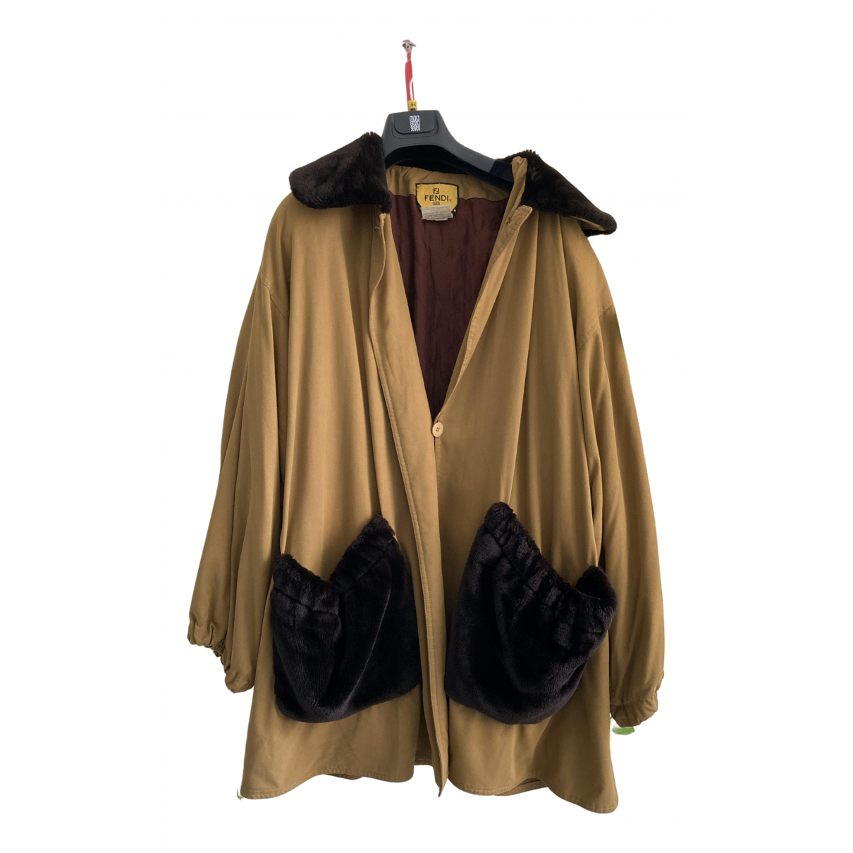 Fendi N Camel coat for Women 42 IT