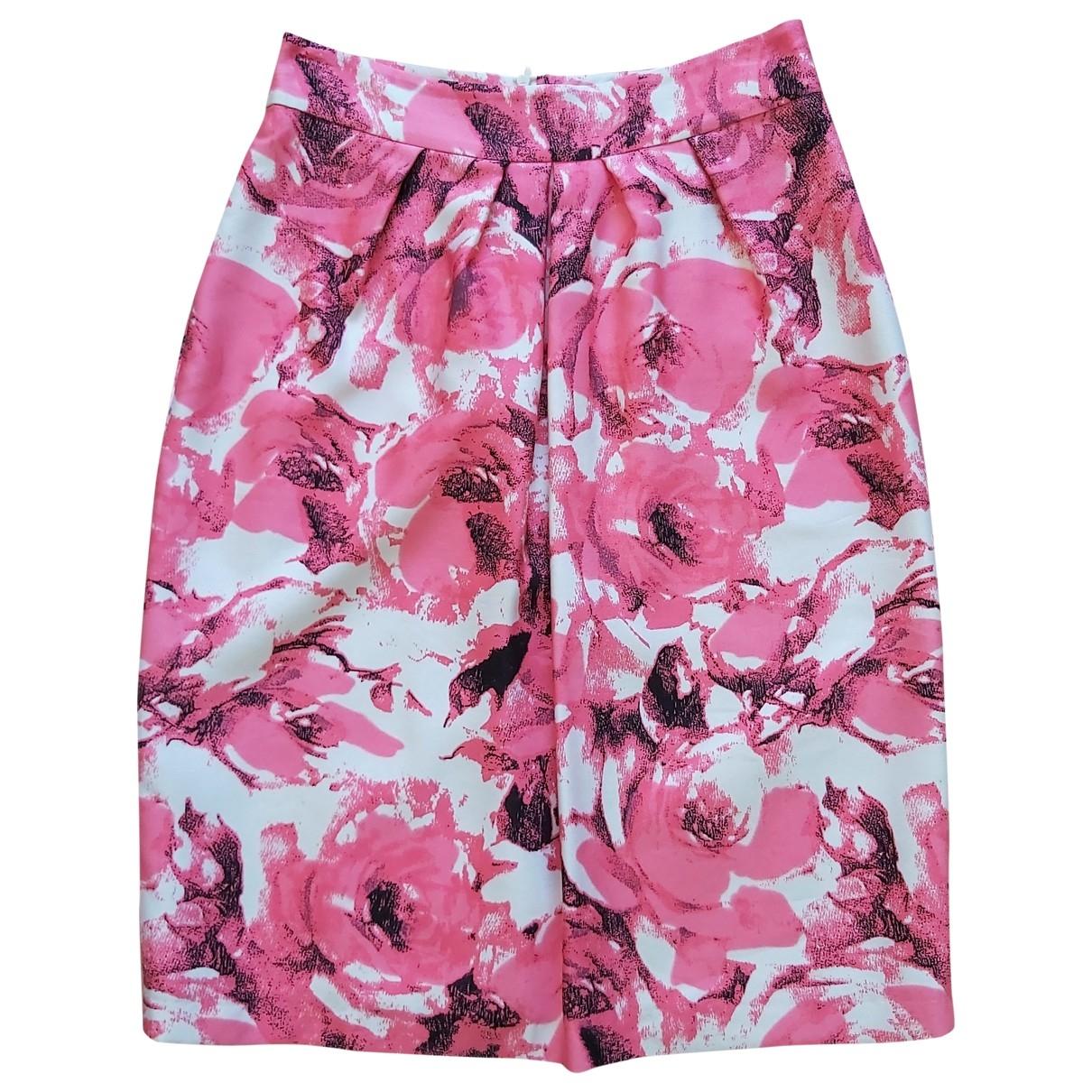 Lk Bennett - Jupe   pour femme en soie - rose