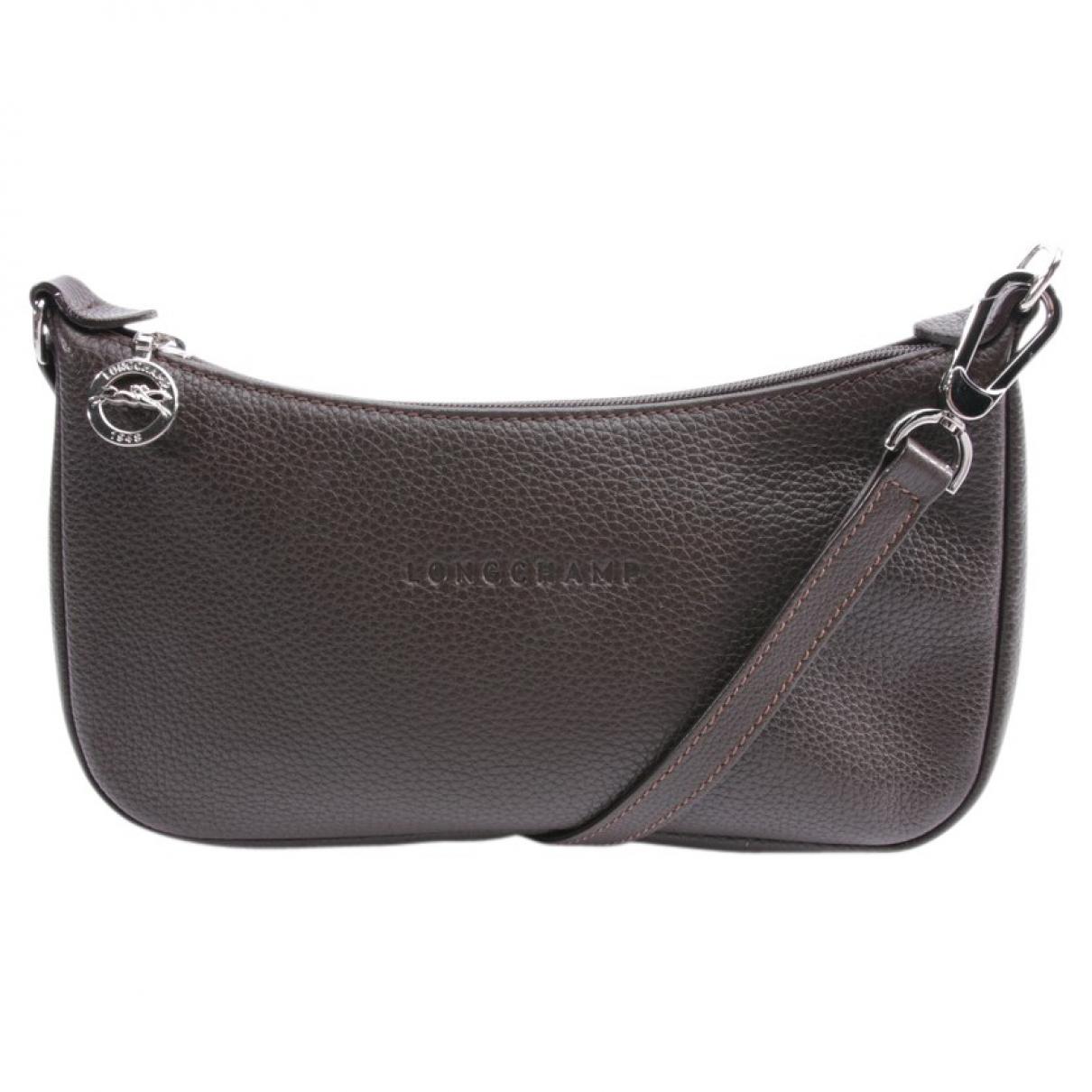 Longchamp \N Clutch in  Braun Leder