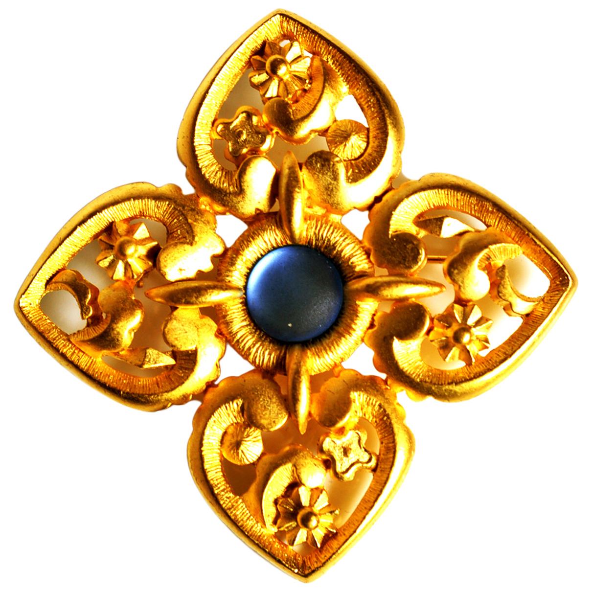 Broche en Metal Dorado Lanvin