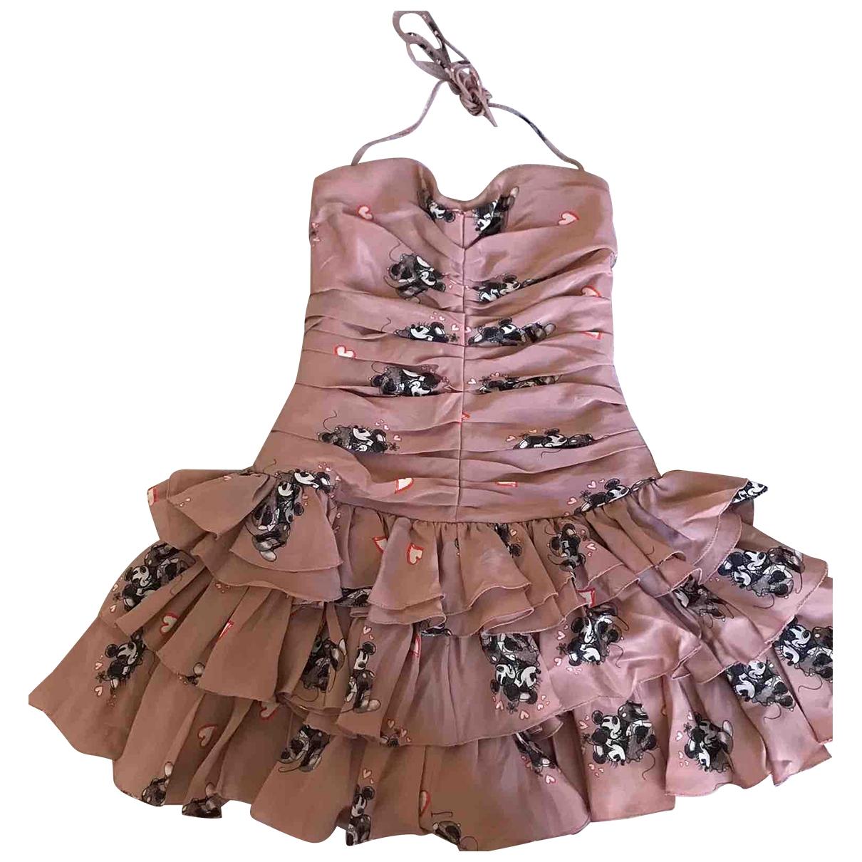 D&g \N Kleid in  Rosa Seide