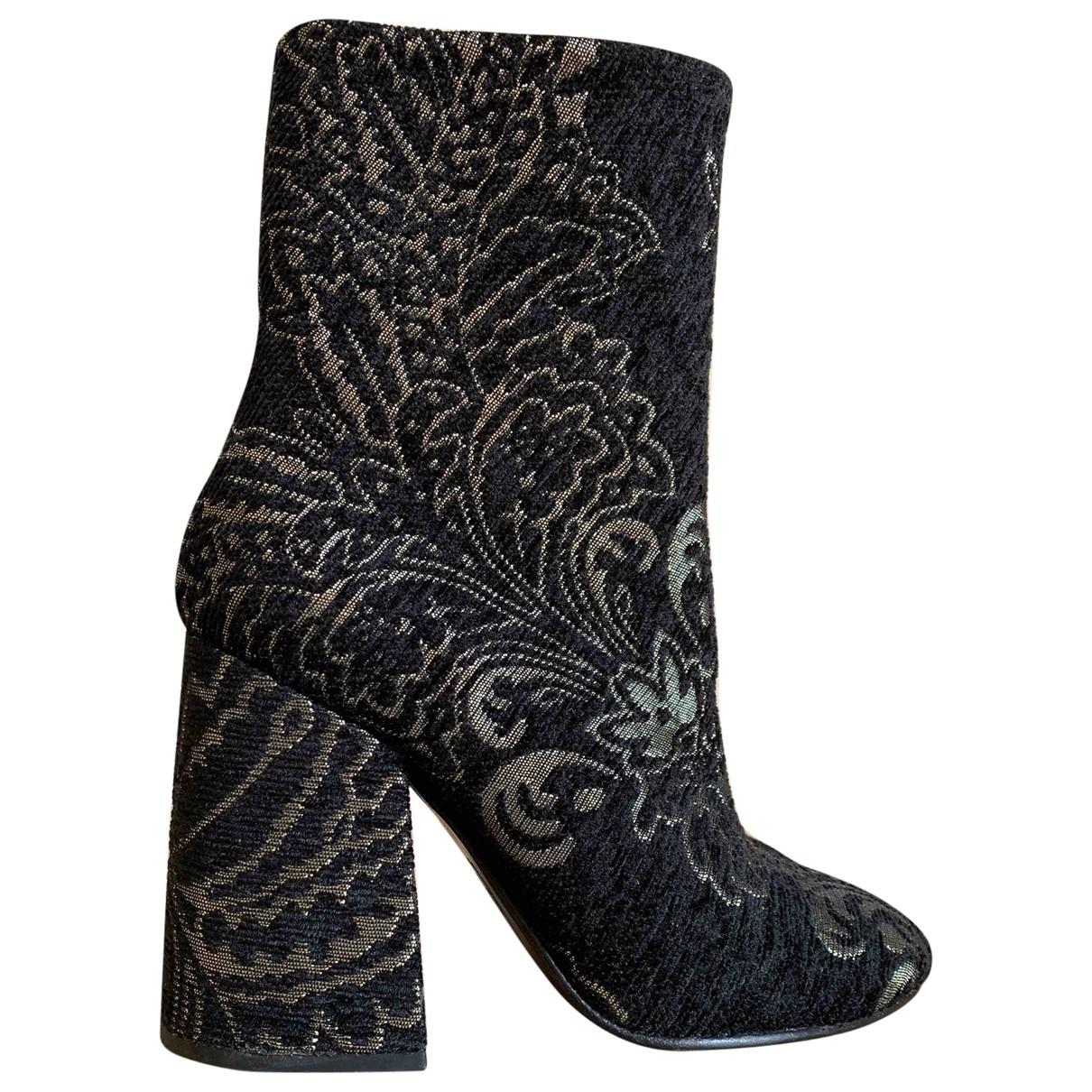 Ash - Boots   pour femme en toile - noir