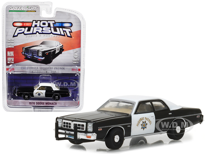 1978 Dodge Monaco California Highway Patrol Hot Pursuit Series 27 1/64 Diecast Model Car by Greenlight