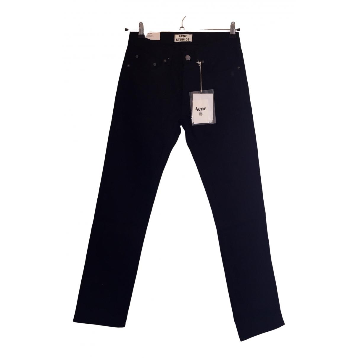 Acne Studios \N Black Denim - Jeans Trousers for Men 30 UK - US