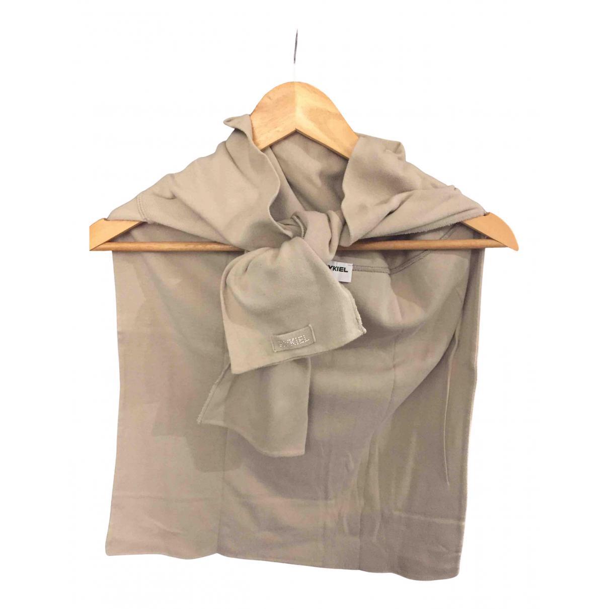 Sonia Rykiel - Foulard   pour femme en coton - beige