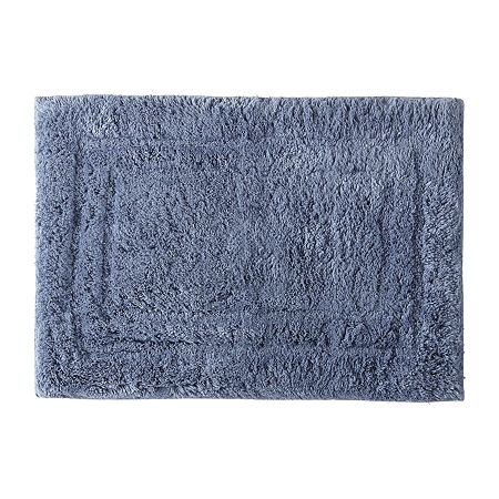 Liz Claiborne Luxury Egyptian Cotton Bath Rug, One Size , Blue