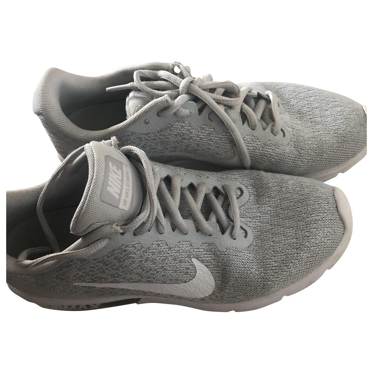 Nike - Baskets Air Max  pour femme en toile - gris
