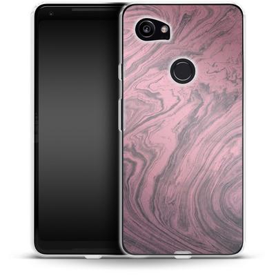 Google Pixel 2 XL Silikon Handyhuelle - Pink Marble von Emanuela Carratoni