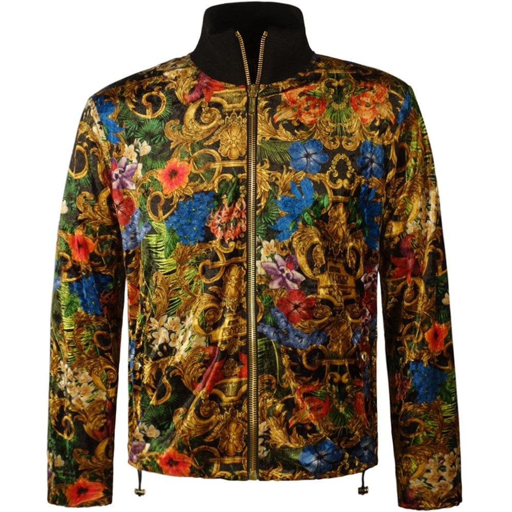 Versace Jeans Couture Baroque Print Track Jacket Size: MEDIUM, Colour: MULTI COLOURED