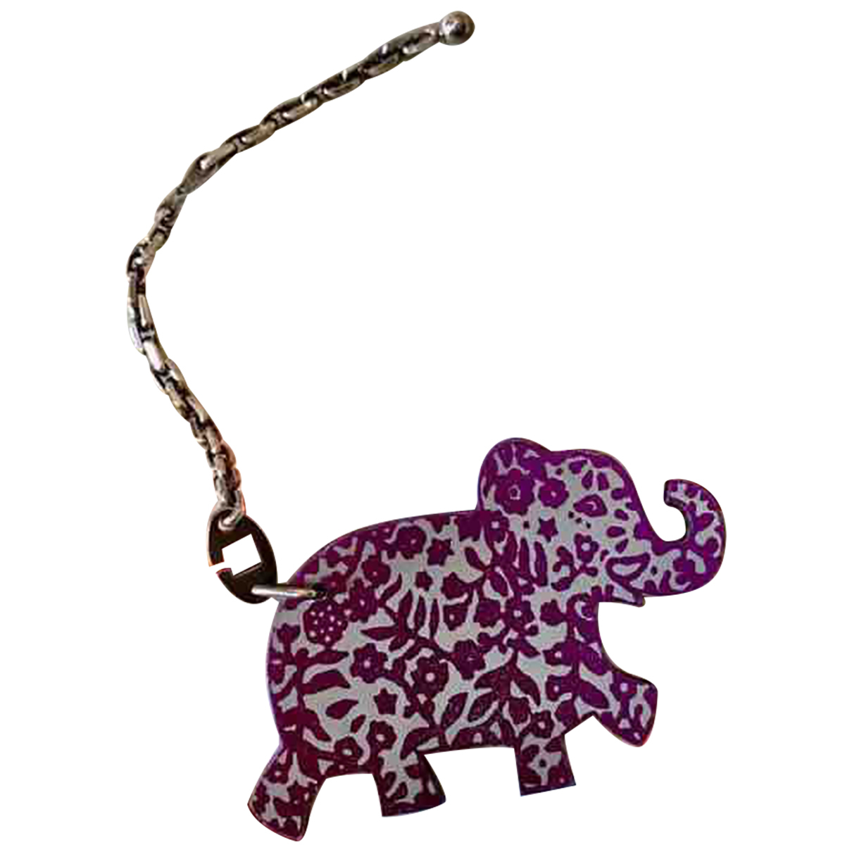 Hermès N Purple Leather Bag charms for Women N