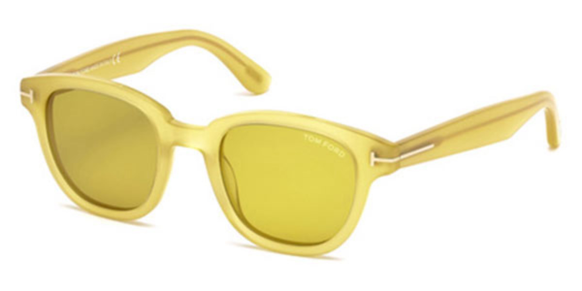 Tom Ford FT0538 59E Mens Sunglasses Yellow Size 49