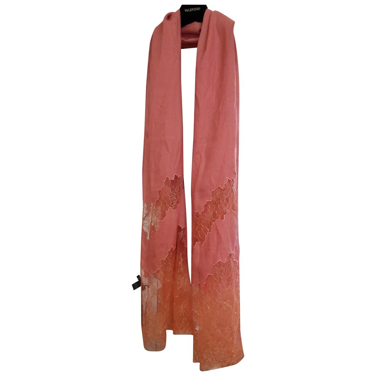 Elie Saab - Foulard   pour femme en cachemire - orange