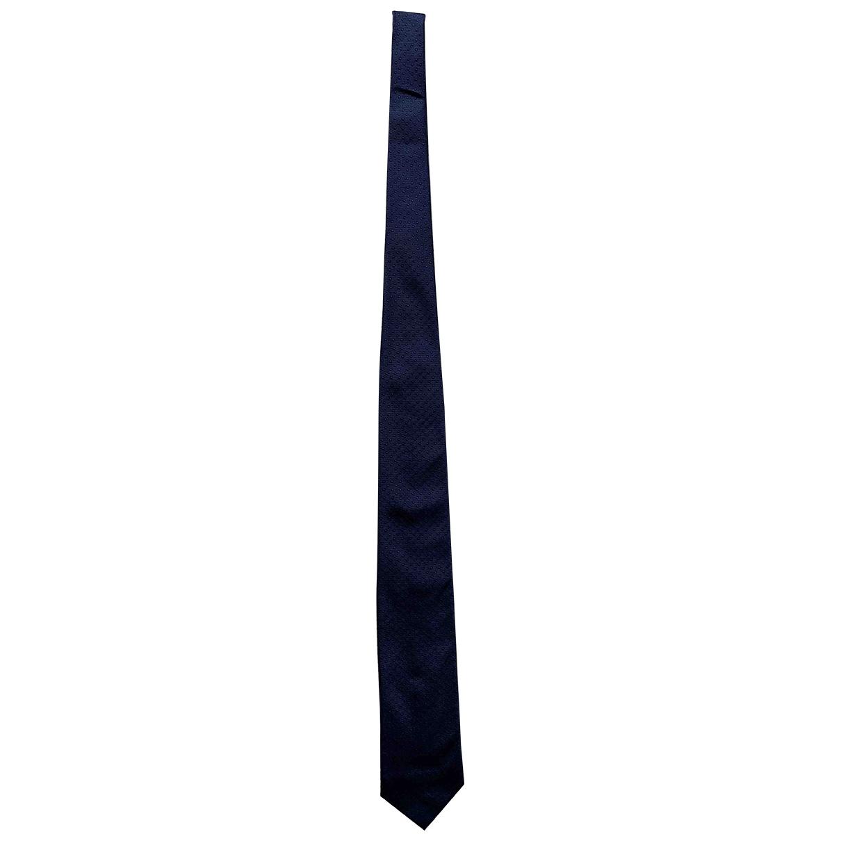 Hackett London \N Krawatten in  Blau Seide