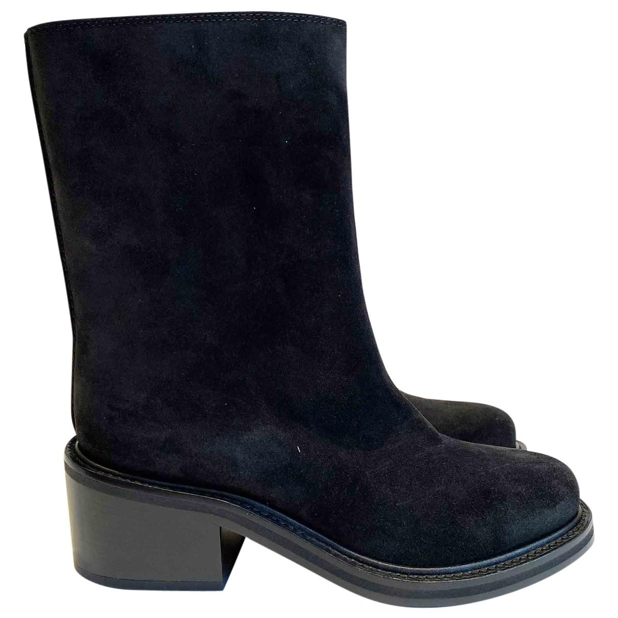 Proenza Schouler - Boots   pour femme en suede - noir