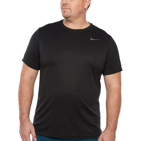 Nike-Big and Tall Mens Crew Neck Short Sleeve Moisture Wicking T-Shirt, 3x-large Tall , Black