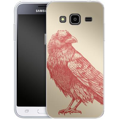 Samsung Galaxy J3 (2016) Silikon Handyhuelle - Red Raven von Terry Fan