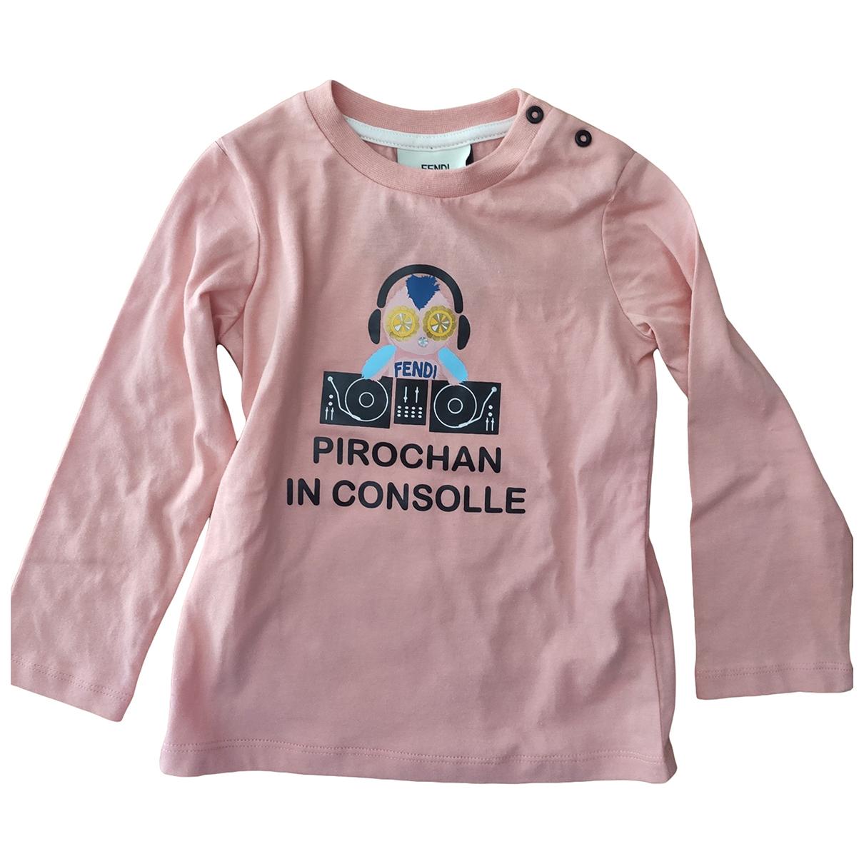 Fendi - Top   pour enfant en coton - rose