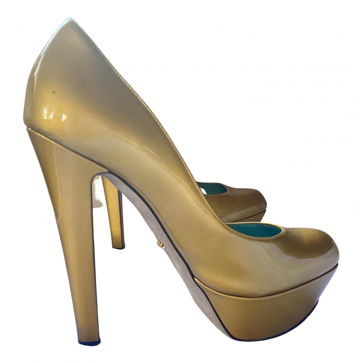Sergio Rossi \N Pumps in  Gold Lackleder