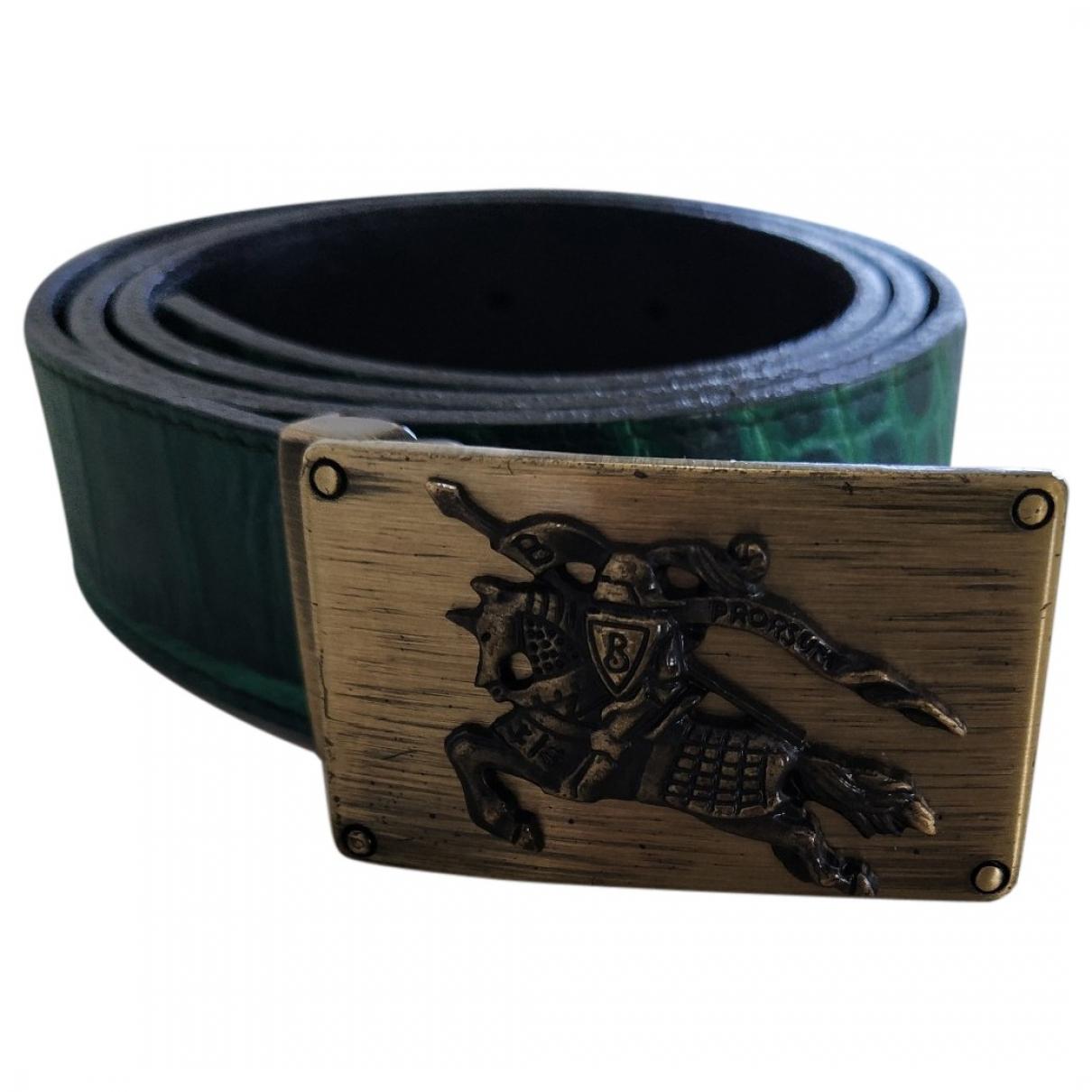 Cinturon de Cuero Burberry