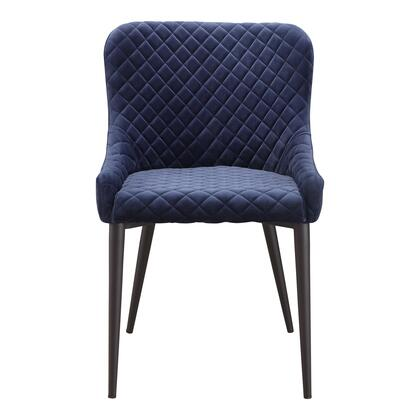 Etta Collection ER-2047-46 Dining Chair with Metal Frame in Blue