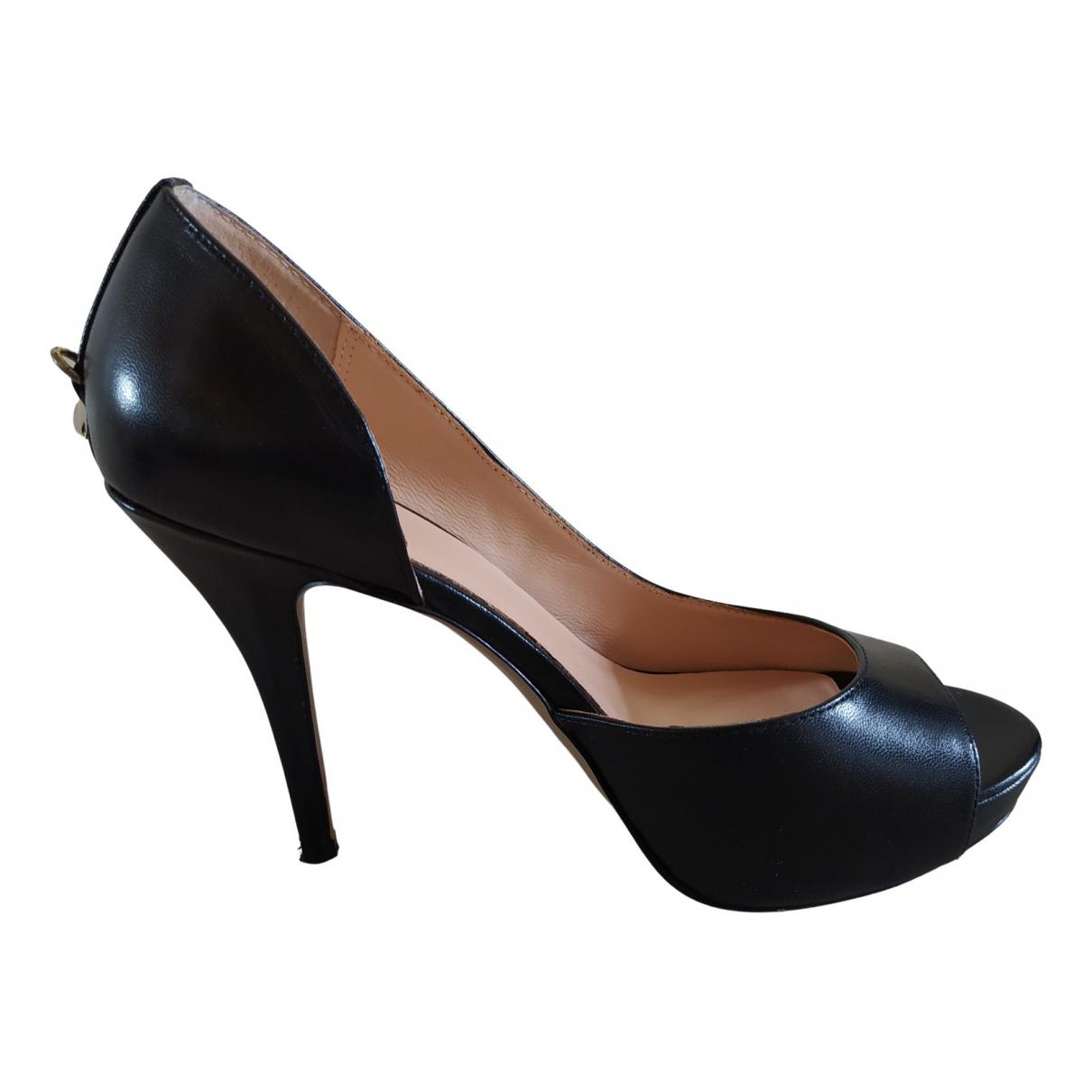 Liu.jo \N Black Leather Heels for Women 40 EU