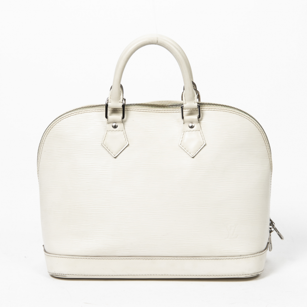Louis Vuitton - Sac a main Alma pour femme en cuir - metallise