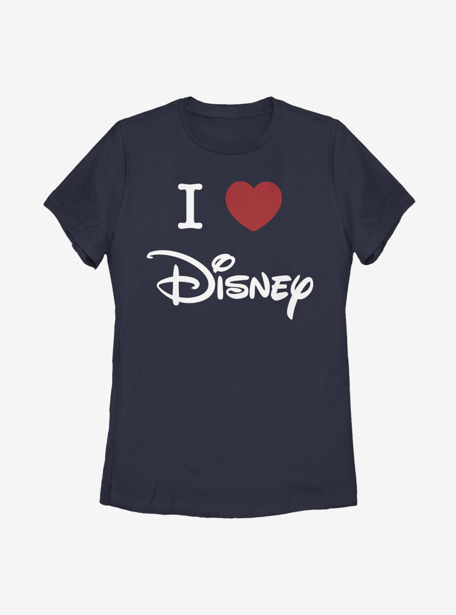 Disney Classic I Heart Disney Womens T-Shirt