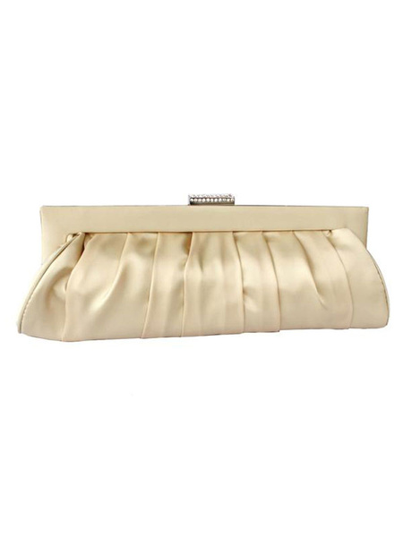 Milanoo Satin Clutch Bags Wedding Bridal Purse Evening Party Handbags