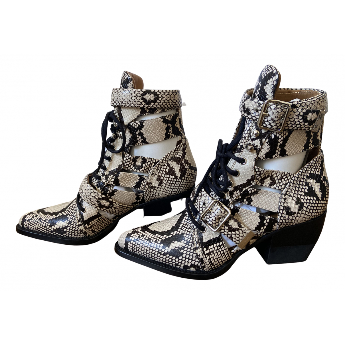 Chloé Rylee Multicolour Leather Ankle boots for Women 40.5 EU