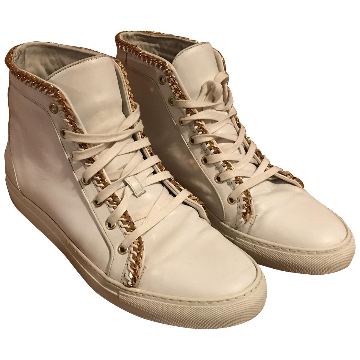 Louis Leeman \N Sneakers in  Weiss Leder