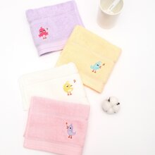 1 Stueck Kinder Handtuch mit Vogel Stickereien