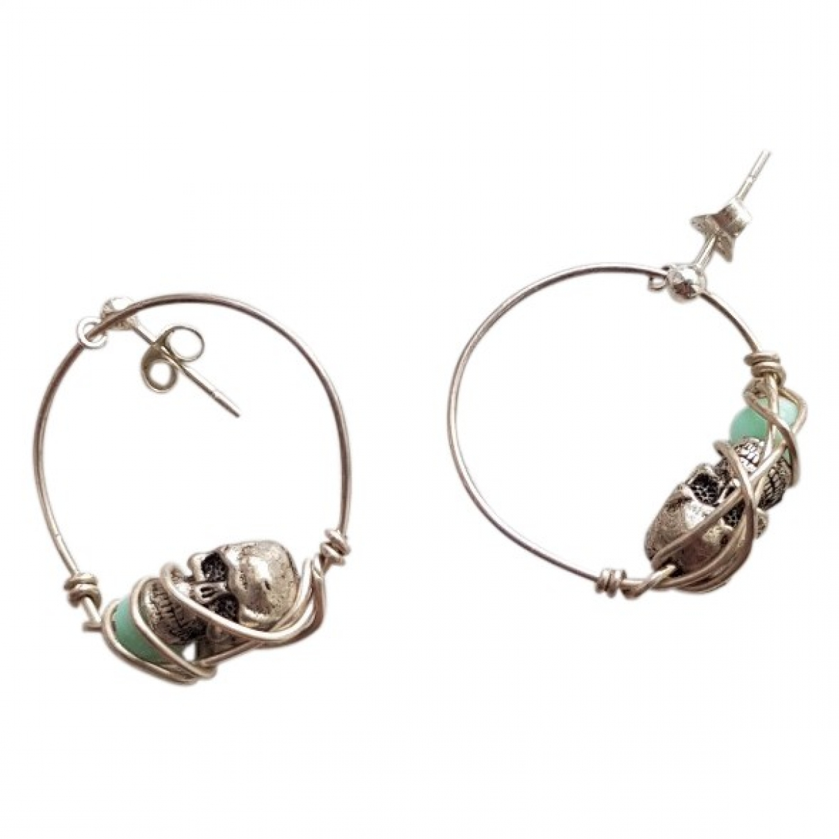 Non Signé / Unsigned Créoles Silver Silver Earrings for Women \N