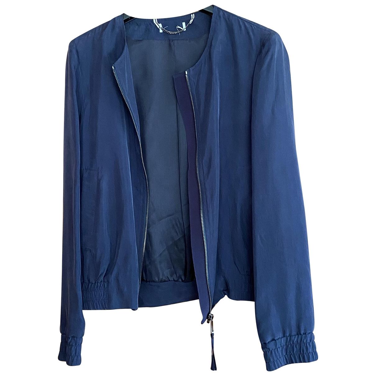 Max & Co \N Blue Silk jacket for Women 42 IT