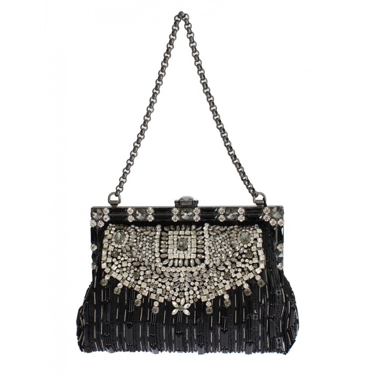Dolce & Gabbana - Sac a main   pour femme en soie - noir
