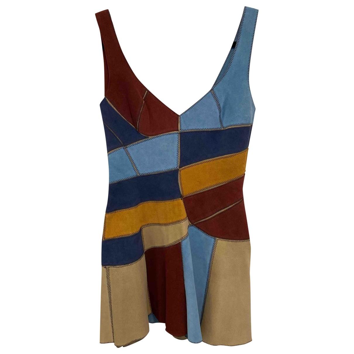 Dsquared2 - Robe   pour femme en suede - multicolore