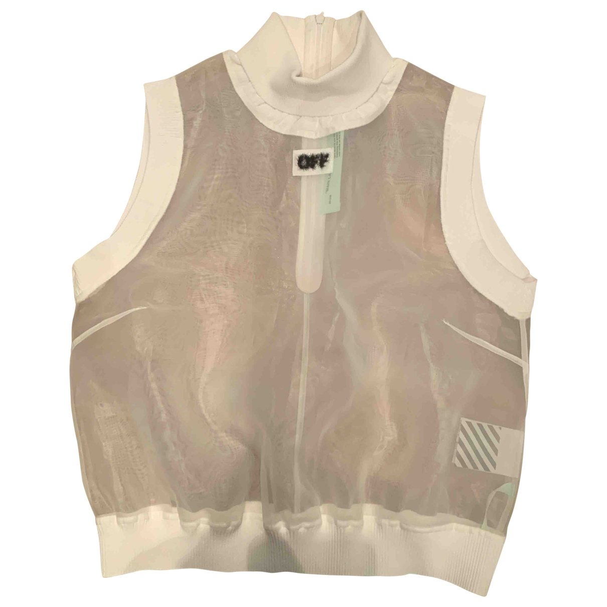 Off-white \N Top in  Weiss Polyester