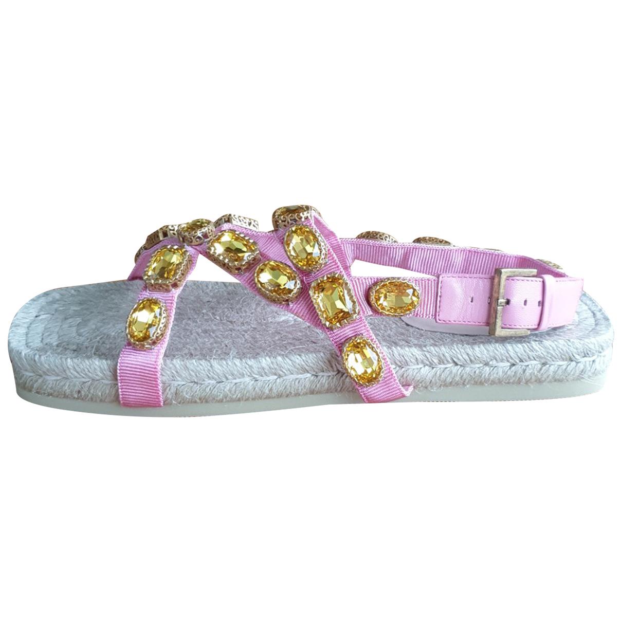Sandalias romanas de Lona Gucci