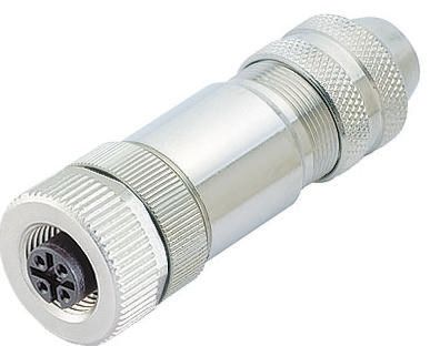 Binder Connector, 12 contacts Cable Mount M12 Plug, Solder IP67