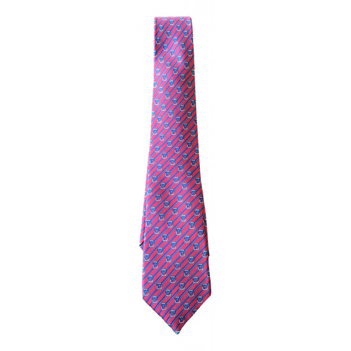 Hermès N Pink Silk Ties for Men N