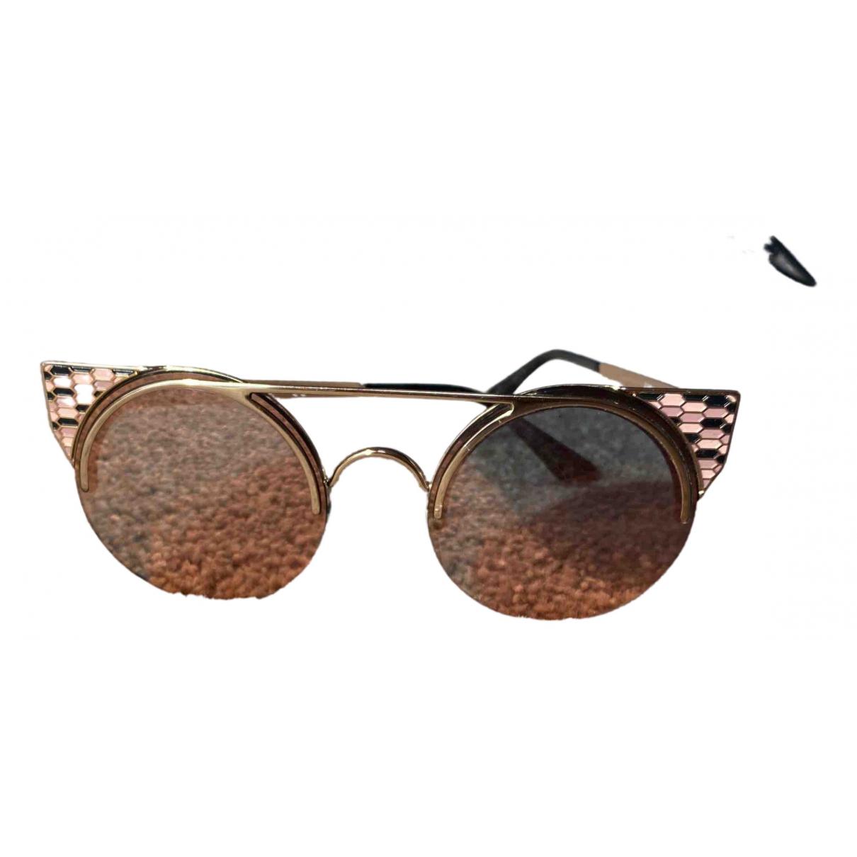 Bvlgari \N Gold Metal Sunglasses for Women \N