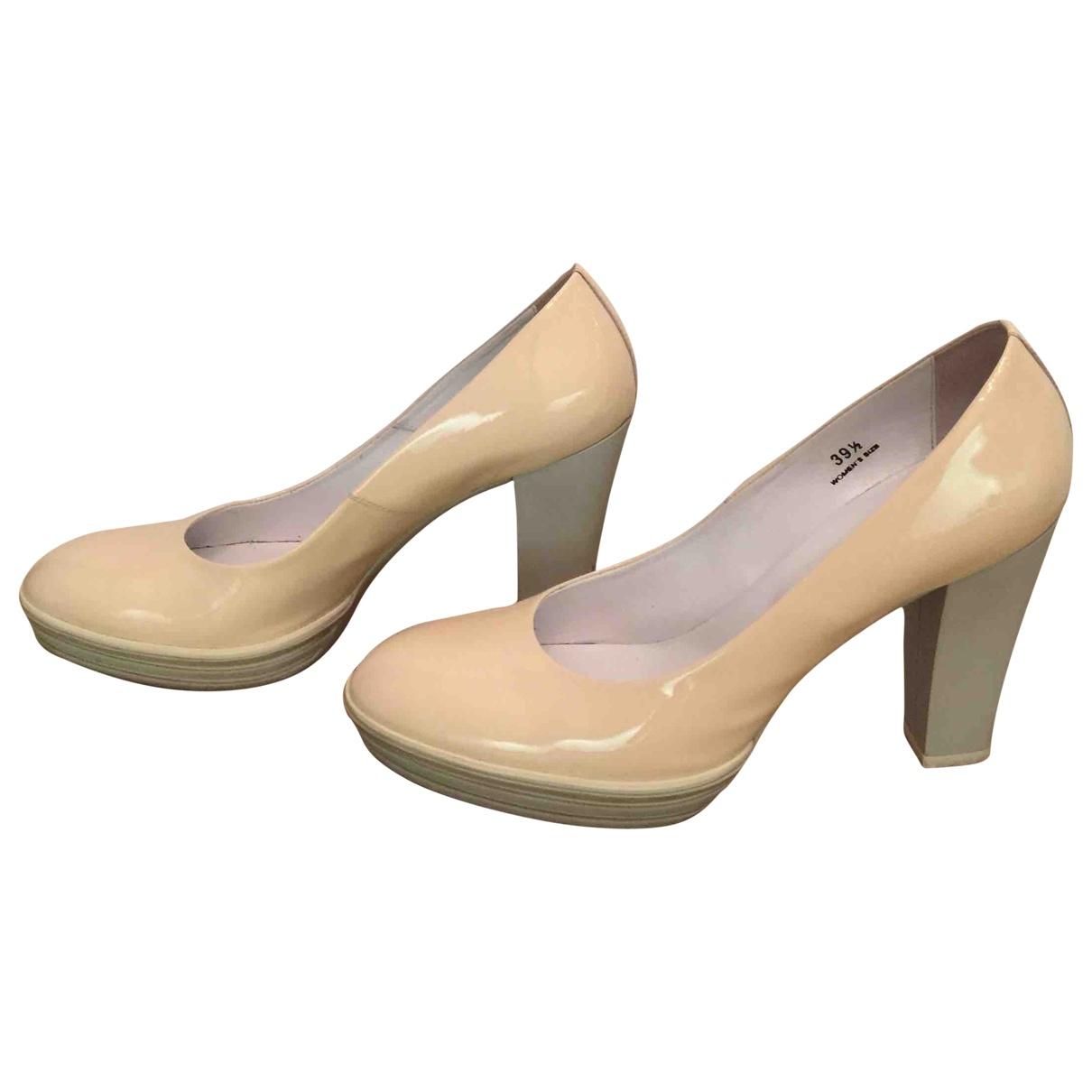 Hogan \N Pink Patent leather Heels for Women 39.5 EU