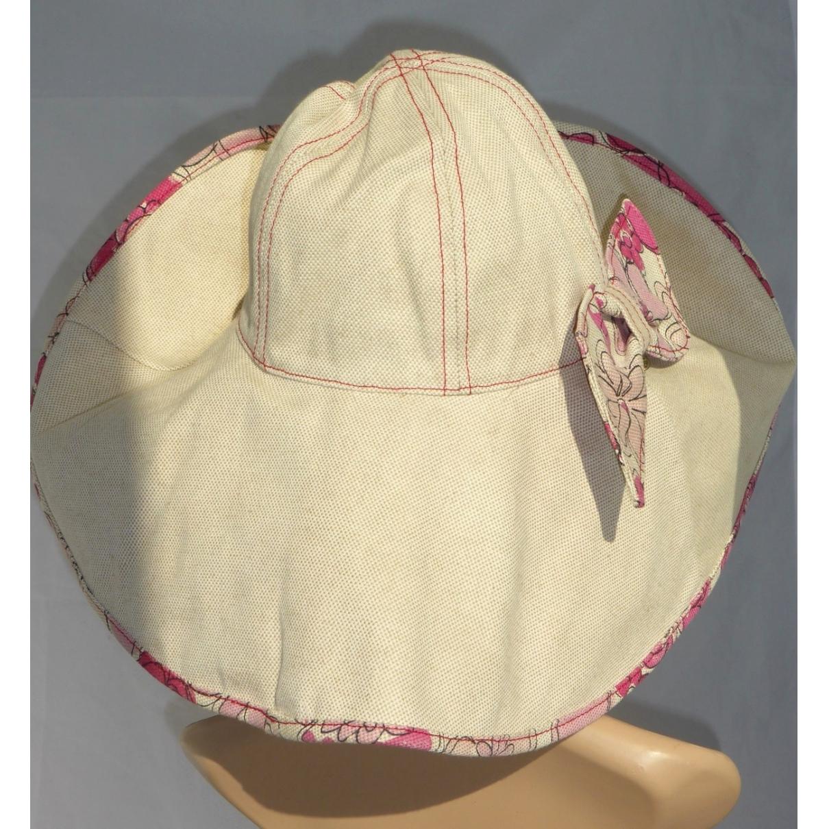 Borsalino - Chapeau   pour femme en toile - ecru