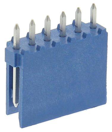 TE Connectivity , AMPMODU HE14, 6 Way, 1 Row, Straight PCB Header (10)