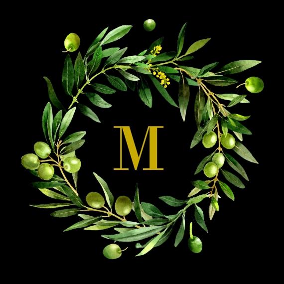Everyday Leather Valet Tray, Gift -Flower Monogram